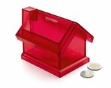 Skarbonka domek czerwona (20099-04)