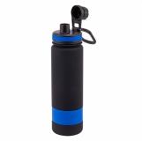 Bidon Facile 900 ml, niebieski/czarny z logo (R08251.04)