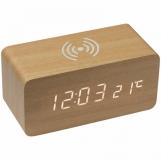 Zegar biurkowy z ładowarką indukcyjną z logo (3151513)