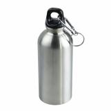 Stalowy bidon Safe Tripping 400 ml, srebrny z logo (R08315)