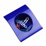 Pojemnik na spinacze Clip-It, niebieski z logo (R74020.04)