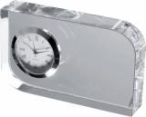 Szklany blok z zegarkiem z logo (2750366)