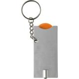 Brelok do kluczy, żeton do wózka na zakupy, lampka LED (V2452-07)