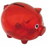 Skarbonka Moneywise, czerwony z nadrukiem (R73881.08)