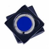 Składany wieszak na torebkę Glamour, niebieski z logo (R73535.04)