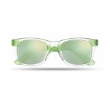 AMERICA TOUCH Lustrzane okulary przeciwsłoneczne z logo (MO8652-09)