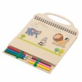 Zestaw do rysowania Lovely Animals, beżowy  (R73783)