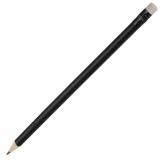 Ołówek drewniany, biały/czarny z logo (R73772.02)