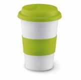 TRIBECA Ceramiczny kubek z przykrywką z logo (MO7683-48)