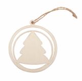 Ozdoba choinkowa Xmas Bubble with Tree, beżowy z logo (X91012.13)