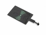 Adapter microUSB do ładowania indukcyjnego INDO czarny (09088)
