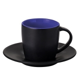 Filiżanka HANDY SUPREME SET 160 ml czarny mat / reflex blue