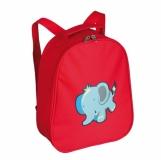 Plecak dziecięcy Elephant Blue, czerwony z nadrukiem (R08363)