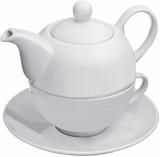 Czajnik i filiżanka do herbaty z logo (8885406)