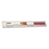Linijka, ołówek, temperówka, gumka (V6125-02)