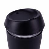 Szklany kubek Stylish 350 ml, czarny z logo (R08278.02)
