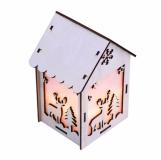 Lampion Christmas Lantern, biały z logo (X91025.06)