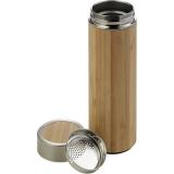 Bambusowy termos 420 ml, posiada sitko zatrzymujące fusy (V0772-18)