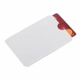 Etui na kartę zbliżeniową RFID Shield, biały z logo (R50169.06)
