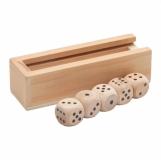 Kości do gry Roll-it, brązowy  (R08837.10)