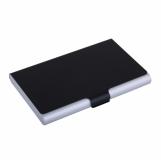 Wizytownik Color Lid, czarny/srebrny z grawerem (R01057.02)