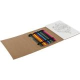 Kolorowanka dla dorosłych, kredki (V7344-00)