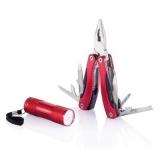 Zestaw narzędzi, narzędzie wielofunkcyjne 14 el., latarka LED (P238.084)