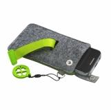 Etui na smartfona Eco Sense, zielony/szary z logo (R08613.05)