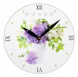 Zegar ścienny, biały z logo (ZEGAR-4)