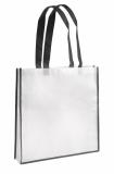 Torba na zakupy biało-czarna (20255-02)