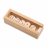 Kości do gry Roll-it, brązowy z logo (R08837.10)
