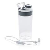 Szczelna butelka sportowa 500 ml, bezprzewodowe słuchawki (P436.443)