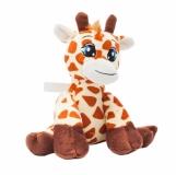 Maskotka Giraffe, brązowy/żółty z logo (R73889)