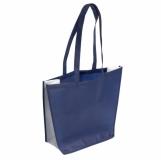 Torba eko na zakupy i plażę, niebieski z nadrukiem (R08451.04)