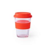 Szklany kubek podróżny 350 ml (V0987-05)