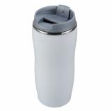 Kubek izotermiczny Astana 350 ml, szary/biały z nadrukiem (R08325.21)