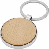 Okrągły brelok do kluczy Moreno z drewna bukowego (11812371)