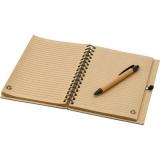 Bambusowy notatnik A5, długopis (V0200-17)