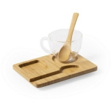 Zestaw 3 el., filiżanka 180 ml, bambusowa podstawka i łyżeczka (V0879-16)
