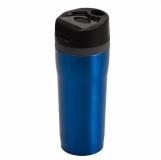 Kubek izotermiczny Winnipeg 350 ml, niebieski/czarny z logo (R08394.04)