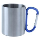 Metalowy kubek 200 ml z karabińczykiem (V8437-11)