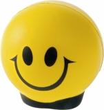Antystres Happy, żółty/czarny z nadrukiem (R73997)