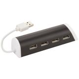 Avenue Aluminiowy 4-portowy hub USB/podstawka na telefon (12372400)