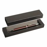 Kartonowe pudełko na długopis, czarny z logo (R01030)