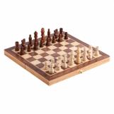 Drewniane szachy, brązowy  (R08854.10)
