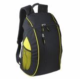 Plecak sportowy Garland, czarny/żółty z nadrukiem (R08640)