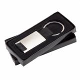 Brelok metalowy Courtly, czarny z logo (R73199.02)