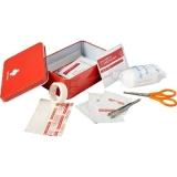 Apteczka, nożyczki, wilgotna chusteczka, taśma, płatki nasączone alkoholem, plastry, bandaż, chusteczka antyseptyczna (V7948-05)