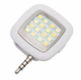 Lampa błyskowa do smartfonów Selfie Flash, biały z logo (R64331.06)