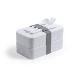 Antybakteryjne pudełka śniadaniowe 2 szt., 2x700 ml, sztućce (V8861-02)